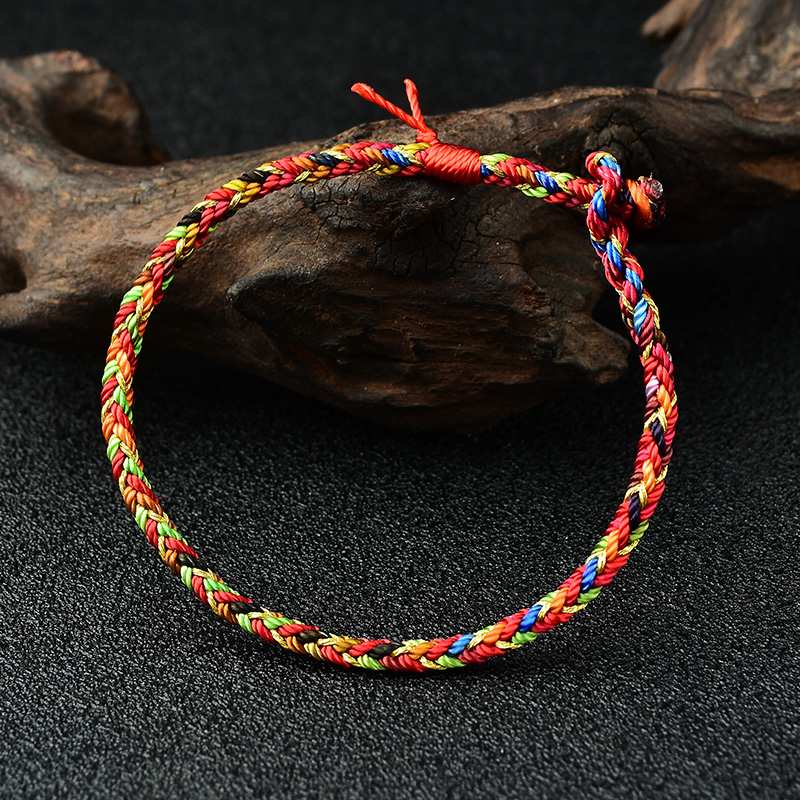 Mika 2020 new colorful rope bracelet this year hand rope pure hand-woven