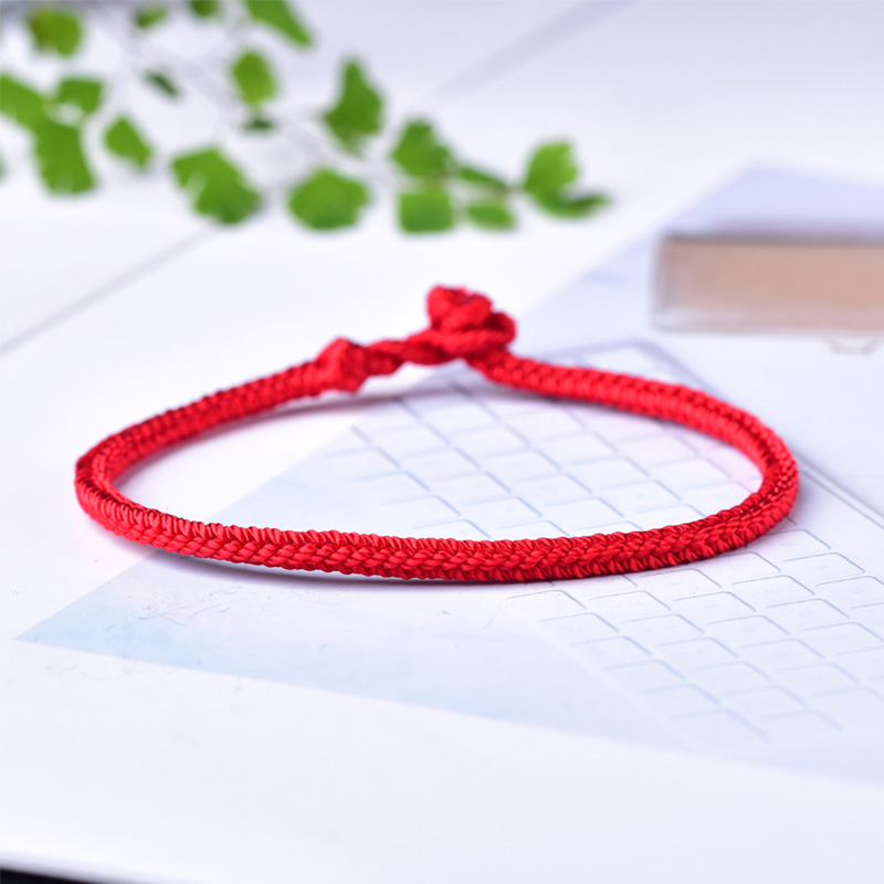 Mika Bens year of life red eight strands of rope pure hand-woven red rope students male and female couple bracelets to send gifts