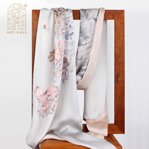 Aer * EASY ) art Pudong Wu Changshuo Azalea long scarf (Gray)