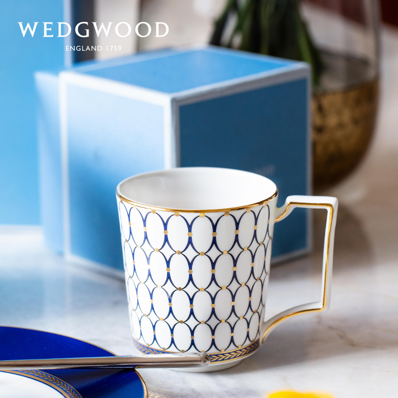 WEDGWOOD live gold powder year chinese bone porcelain mug cup family couple cup cup tea cup