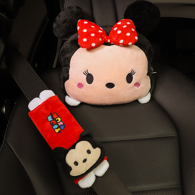 Car waist cushion waist cushion waist cute seat headrest car with autumn and winter car back cushion linen breathable woman