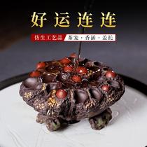Yixing фиолетовый песок горшок крышка 託 крышка набор фиолетовый грязи дома чистая рука скульптура может поднять чай домашнее животное творческого бионического лотоса сына