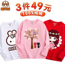 Девушки с длинным рукавом футболки 2020 новый большой ребенок газ девушки весна и осень рубашки для детей хлопок топы для детей