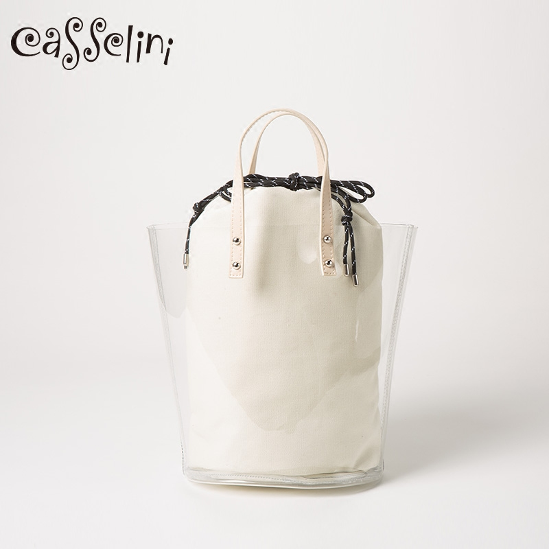 Casselini Japanese original spring and summer 2019 new bag, lovely transparent bag, handbag, shoulder bag