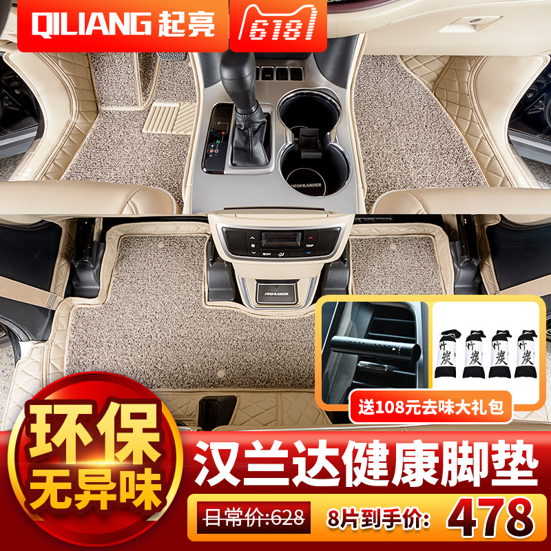 15-2018 new Toyota Highlander dedicated all-inclusive foot pad 7/5 seat 2017 carpet 18 modified decoration