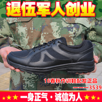 Genuine distribution of 16 spring and autumn training shoes new 07a Fire training emancipation rubber shoes summer small black shoes running shoes