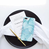 Small fresh OPPO R11 6s mobile phone shell Apple 7plus irregular marble IMD soft shell protective cover