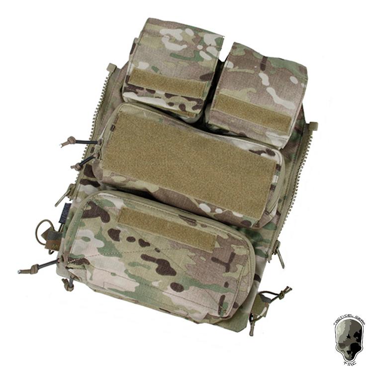 TMC 2020 attaque backboard tactique sac fermeture éclair CPC AVS arrière attaché paquet TMC3107