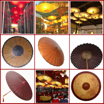 Traditional oil paper umbrella retro style ceiling decorative umbrella prop Umbrella Dance umbrella Waterproof sunscreen a variety of colors to choose from