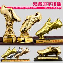 World Cup custom Golden Boot resin trophy gilded soccer Mr. Shooter bonus shoe Match trophy fans