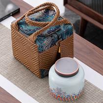 High-grade Pu er Longjing red and white tea universal gift box single canned empty box customized