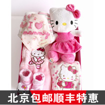 Newborn baby Princess full moon in autumn and winter baby clothes