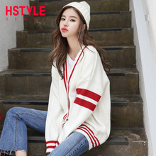 Pre-sale of the new Korean version of Handu Clothing House in autumn of 2019, loose leisure jacket, sweater jacket, knitted cardigan bream