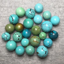 Hubei Shiyan original ore natural high porcelain turquoise large size beads single loose beads with star and moon Bodhi diamond