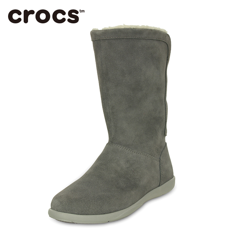 Crocs boots kaluochi outdoor shoes Adelaide warm cashmere winter flat tube warm cotton boots | 15496