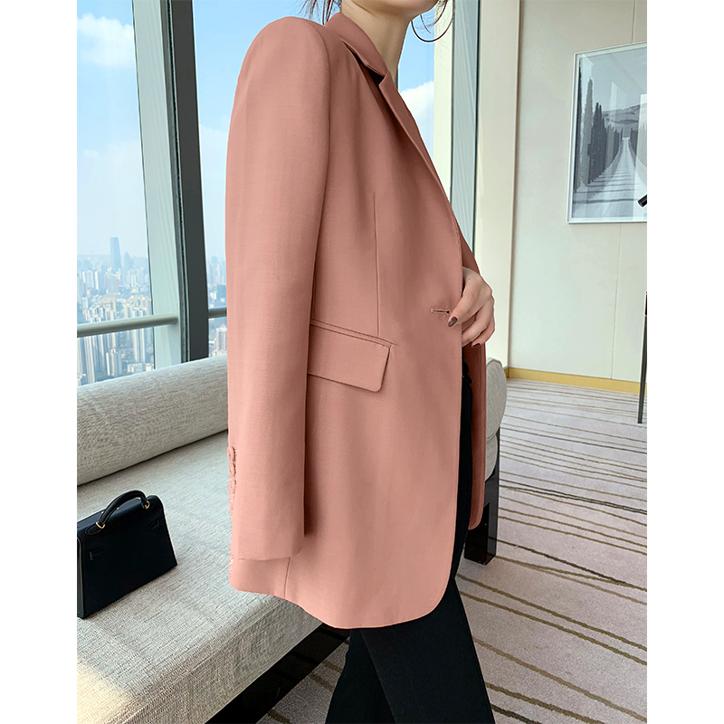 SOULKISS hand B with classic spring and autumn models _ Word-of-mouth best-selling DU family dyed pink small blazer for women