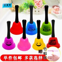 Childrens hand ringing toy hands take color summons Bell puzzle Kindergarten class Christmas Hand Bell