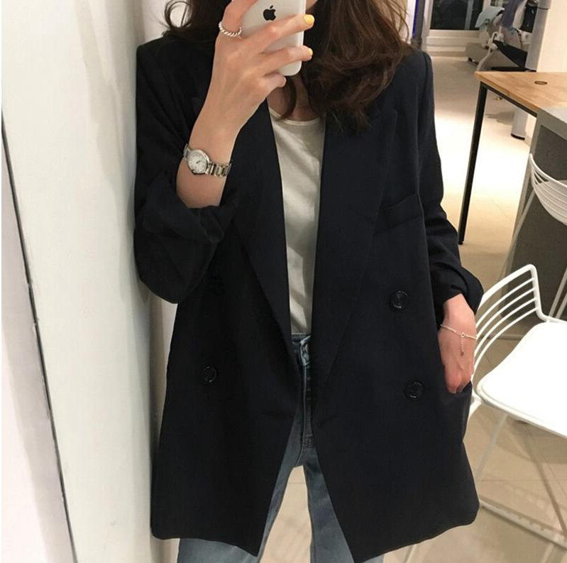 Japan 2021 spring and autumn new small blazer female commuting loose wild British style casual suit top