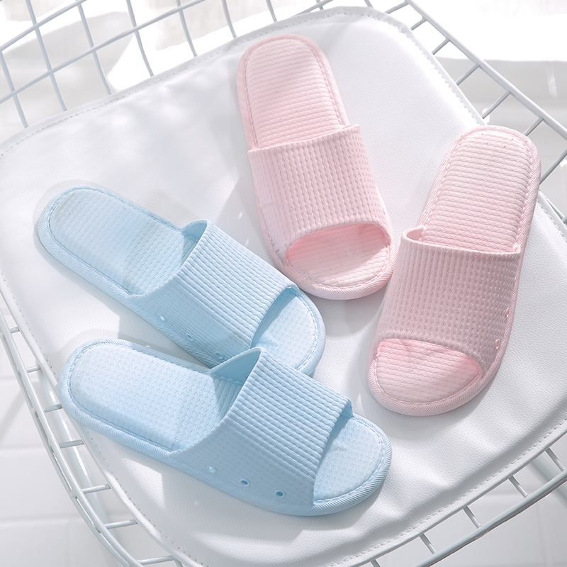 Bathroom slippers women summer indoor non-slip home soft sole simple Japanese couple home mens bath sandals