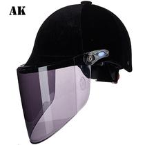 AK equestrian velvet autumn summer UV summer helmet knight riding helmet electric car helmet four seasons spring and autumn