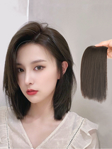 Hair piece Real hair One piece incognito invisible pad Hair piece thickening fluffy device on both sides of the hair piece Head hair volume replacement female