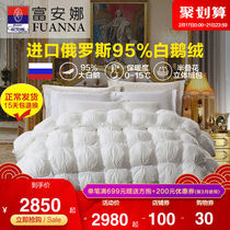 Rich Anna home textile Russian imports down quilt 95 white goose down quilt thickened warm double quilt core