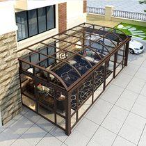 Bright Pavilion Villa sun room custom broken aluminum doors and windows sealed balcony awning terrace soundproof glass greenhouse