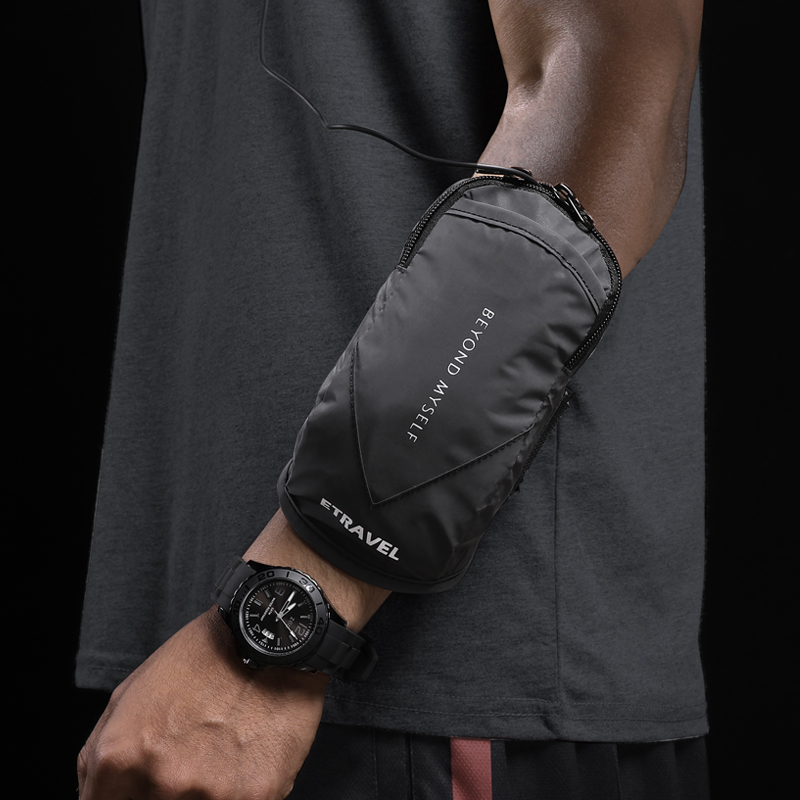 Running mobile phone arm bag mobile phone bag wrist arm bag universal mobile phone case mens wrist bag equipped with sports arm cover