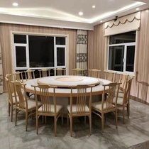 Hotel large round table Electric 20 people 15 people Hotel table and chair combination Restaurant turntable with hot pot table Large round table