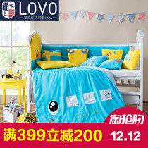 LOVO textile produced baby bed enclosures Carolina life bed linen car kubao bedding 14 piece
