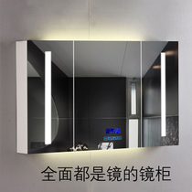 Intelligent Mirror Cabinet anti-fog defogging mirror cabinet with lamp toilet hanging wall Type solid wood storage objective cabinet box customization