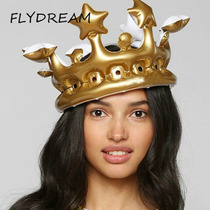 FLYDREAM Creative Personalized Inflatable Crown Inflated Hat