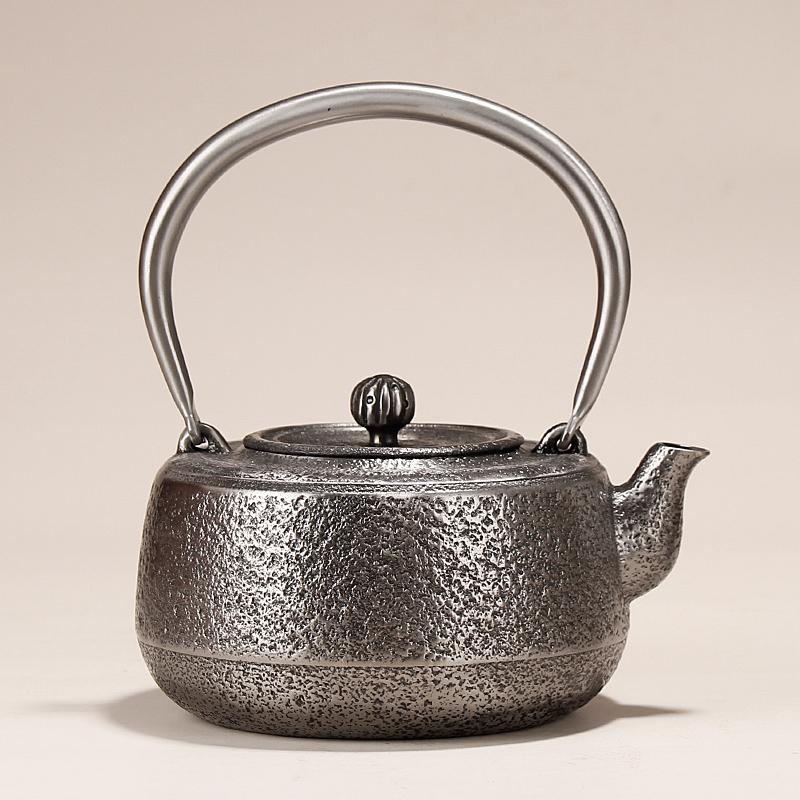 Japanese sand iron pot original import Xinlongtang cast iron pure hand-uncoated kettle tea maker teapot