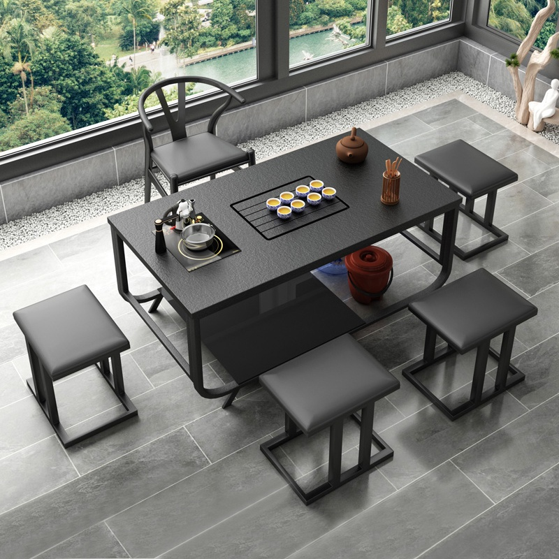 Fire-burning stone kung fu tea table tea table one-in-one Yangyang office tea table and chair combination living room simple modern home