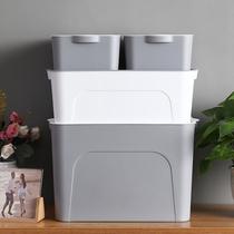 Dormitory cosmetics storage box desktop plastic multi-functional storage box home has a cover size size finishing storage box
