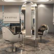 Net red barber shop mirror table Hair salon Stainless steel full-body mirror floor-standing single-sided double-sided hair cutting mirror for hair salon