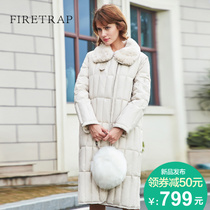 Firetrap Europe and rabbit hair thicken down jacket