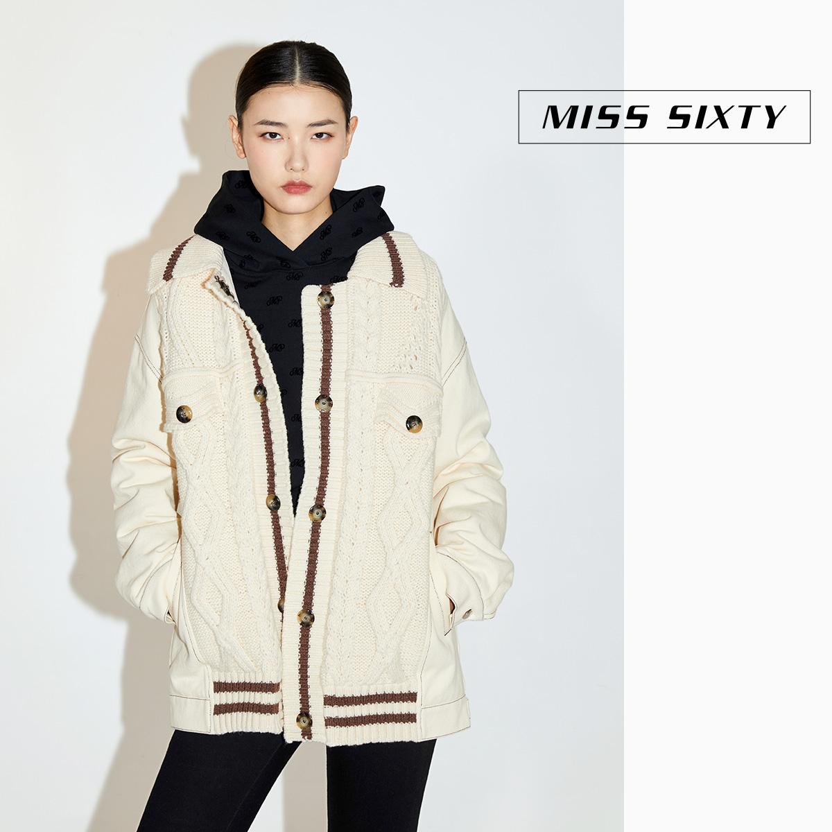 Miss Sixty Winter wool stitching denim padded jacket cotton clothing female 604CJ7231000