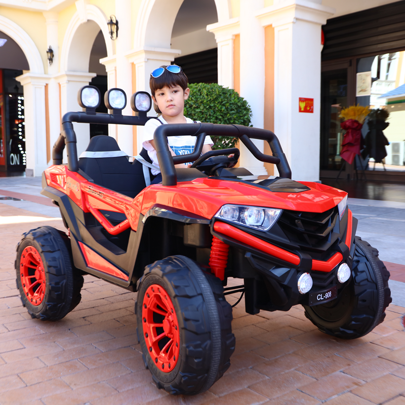 Childrens electric car four-wheel-wheel-up super-large four-wheel drive off-road car baby stroller remote control toy car can sit adults