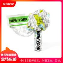 Crumpled city maps waterproof Fold Cities map Italy Palomar Hong Kong Tokyo
