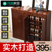 Shoe cabinet solid wood home door large capacity to save space into the door Xuanguan cabinet one simple modern foyer cabinet into the home