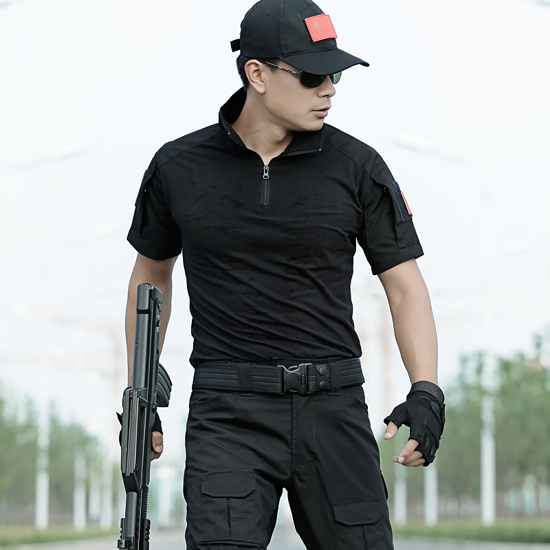 Dunlang outdoor special forces short sleeve Camouflage Military Training uniform CS tactical combat training uniform
