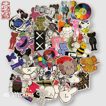 65 Sesame Street & KAWS Carter Sticker Skateboard Suitcase Surfing Board Sticker Rod Box Mobile Phone Sticker