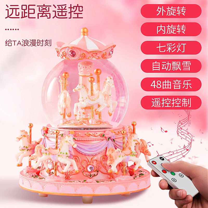 Yeezy Day Crystal Ball Music Box Carnta Terrier Octonic Box Little Girl Birthday Gift Girl Gives Girls and Children
