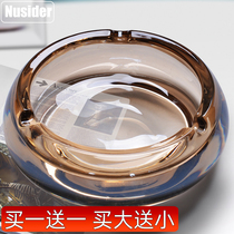 Buy big free small crystal glass creative ashtray home living room bedroom office personality trend cigar European