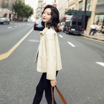 Mao coat womens short autumn winter 2020 new short winter dress a hundred small nizi show high-rise coat tide