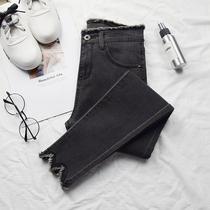Printemps et les automne taille haute version coréenne étudiants montrent Skinny Skinny jeans crayon