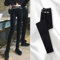 Leggings women wear spring and autumn winter plus velvet 2021 new small feet Magic small black pants high waist thin pencil pants
