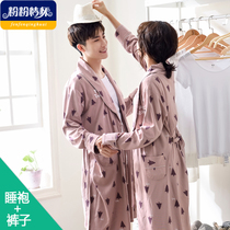 Bathrobes cotton lovers fall in autumn and winter