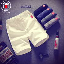 2) Summer cotton and linen shorts mens five-part trousers Korean version relaxed casual linen 5 pants big underwear beach pants